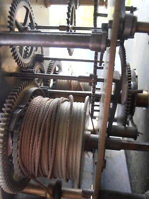 Antique 8 Day Brass Arch Dial Oak Grandfather Longcase Clock ALEX GORDON DUBLIN 11