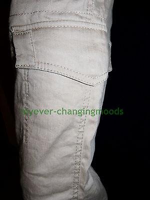 Calvin Klein Unisex Jeans 28 Waist 33 Inside Leg Stone Cream New Unworn Rrp £154 4