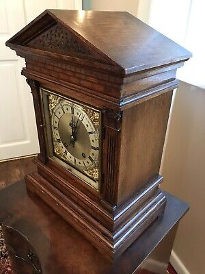 Antique Bracket Clock Winterhalder & Hofmeier Ting Tang Clock 3