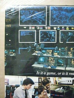Vintage Poster WarGame Mathew Broderick Movie 1983 Inv#G4801 3