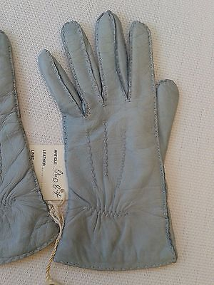 Guanti Donna in pelle col. carta da zucchero tg 6 Gloves Originali Lusso 9