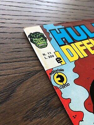 HULK E I DIFENSORI N. 11 CORNO Ottimo + 3