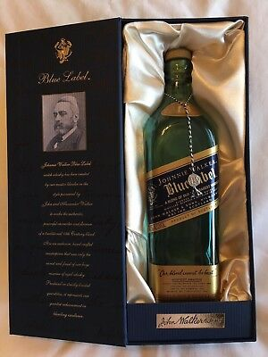 Johnnie Walker Blue Label Empty Bottle with Satin Lined Box
