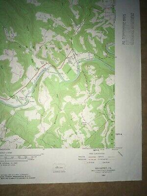 Mahaffey Pa. Clearfield Co USGS Topographical Geological Survey Quadrangle Map 5