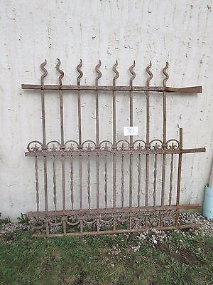 Antique Victorian Iron Gate Window Garden Fence Architectural Salvage Door #707 2