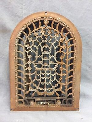 Antique Cast Iron Arch Decorative Heat Grate Register Stars 8X12 Dome Vtg 28-19C 2