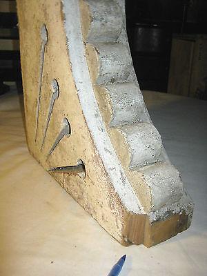 Antique Victorian Architectural Wood Corbel Arch Shelf Bracket Statue Sculpture