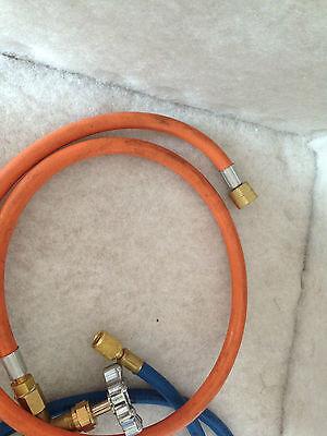 Propane Lpg Tank Gas Adaptor Hose For Refrigeration A/c Orange Hose Only 4