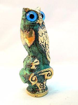 Ancient Greek Bronze Museum Replica Of Owl Symbol Of Athena Goddess Of Wisdom 5
