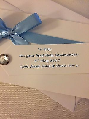PERSONALISED 1st COMMUNION/CHRISTENING MONEY GIFT WALLET CARD WITH ENVELOPE 4