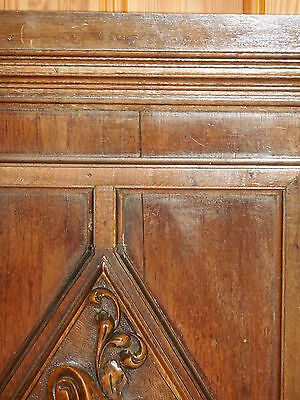 Fabulous lot of 2 French Antique Carved Oak Wood Door Panel, Gothic pattern 7