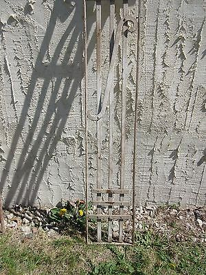 Antique Victorian Iron Gate Window Garden Fence Architectural Salvage Door #411 3