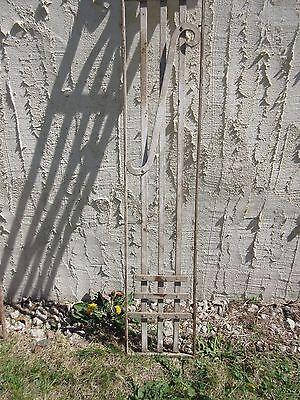 Antique Victorian Iron Gate Window Garden Fence Architectural Salvage Door #411 3