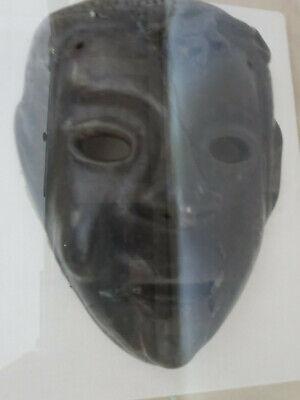 Antique Roman Greek Framed Clay Mask 6