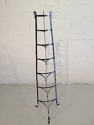industrial hand-forged plant stand mixing bowl rack shelf 1930s metal 9