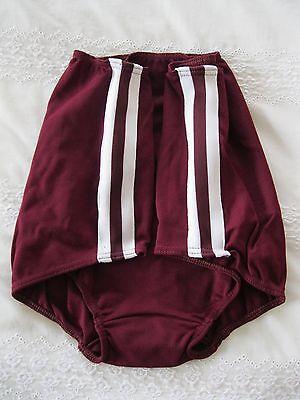 Ladies Full Brief XL 100% Bri Nylon Maroon Gym Briefs/Knickers (W 30 - 38In) NEW 2