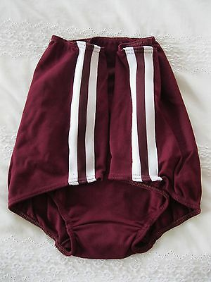 Ladies Gymphlex XL 100% Bri Nylon MAROON Gym Knickers/ Shorts (W30 - 38In) BNIB 2