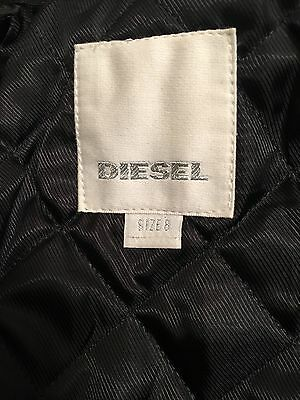 Diesel L-Ulisse Brown Studded Leather Jacket For Boys & Girls 8Yrs Rrp £399 12