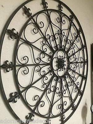 Round Wrought Iron Wall Decor Rustic