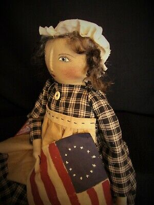 PATTERN,Sewing,Primitive dolls,Americana,Betsy Ross, Dumplinragamuffin, #290 3