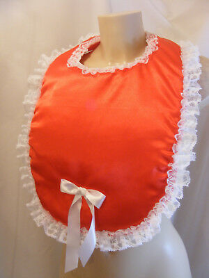 sissy adult baby customised padded bibs colour lace fancydress disabled md 4