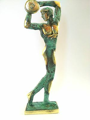 Ancient Greek Bronze Museum Statue Replica of Discus Thrower of Myron Olympics 3