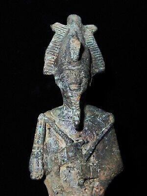 Zurqieh -As7923- Ancient Egypt. Large Bronze Statue Of Osiris. 1075 - 600B.c 2