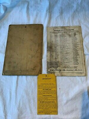 Vintage Briggs & Stratton Engine Operating Instructions Booklet Model 6B-H 6B-HF 5