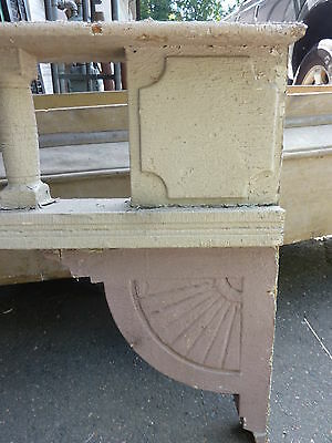 c1882 VICTORIAN GINGERBREAD porch spandrel FRETWORK pediment ~ FANCY 90.5 x 25.5 10