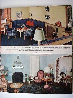 "Vintage 1939 Booklet ""Home Decorator & Color Guide by Rockwell Kent (Artist) * 4"