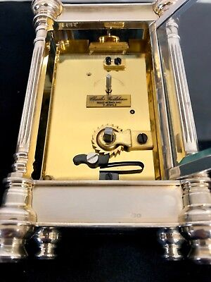 Limited Edition Sterling Silver Vintage Carriage Clock Charles Frodsham London 9