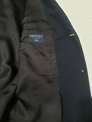 Brooks Brothers 346 navy Wool 3-Button front + sleeve Suit jacket sport coat 41 3