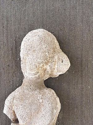 Ancient Artifact Female Carved Figure Indonesia, Java, Mounted 2