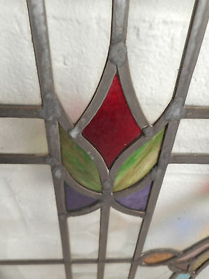 Vintage Stained Glass Window Panel (3035)NJ 6