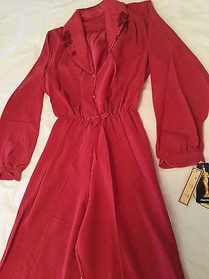 Ladies Vintage 1940's style Sleepwear Jumpsuit Size 14 -New and Unused with tags 5