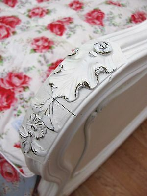 Stunning Antique French Double Rococo Crested Bed - C1920 4
