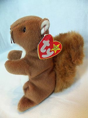 TY Beanie Babies Brown Squirrel ** NUTS **  5th Generation New w/ Tag
