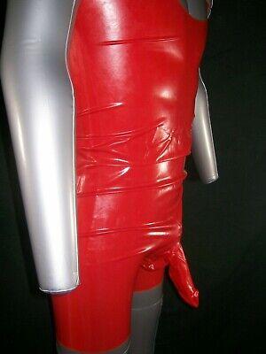 Red Fetish Bondage Rubber Latex Body Sheath 3350 Condom Gimp Gay Sexy Catsuit 7