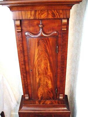 Beautiful Scottish 19th Century Flame Mahogany 8 Day Longcase Clock 2