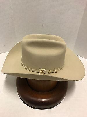 ... Tax Sale 3 3 of 9 Stetson Cowboy Hat 6X Beaver Fur Ivory EL VALIENTE w  Free  Hat Brush+No 6cf81c6738f2