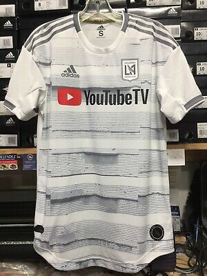 new product f8e91 5019b ADIDAS LAFC AWAY 2019 Authentic Player Version White Silver Size XXL