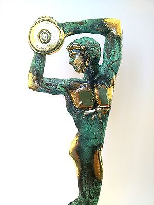 Ancient Greek Bronze Museum Statue Replica of Discus Thrower of Myron Olympics 6