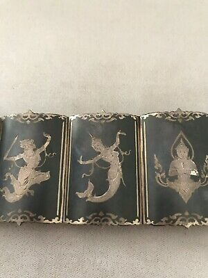 Siam Silver Antique Bracelet 7