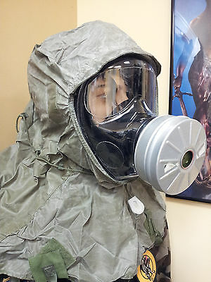 Gas Mask Hood Cover Face Head Protection Paintball Nbc/ Hood Only 3