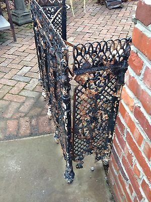 One Matched Pair Very Ornate Cast-Iron Radiator Covers Antique 6