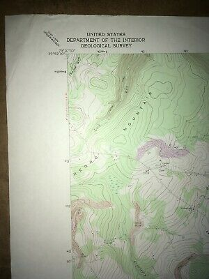 Meyersdale PA Somerset Co USGS Topographical Geological Survey Quadrangle Map 2