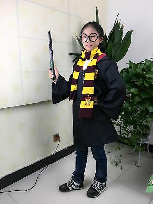 Harry Potter Manteau écharpe Krawatt Gryffindor Slytherin Ravenclaw Cape Costume 11