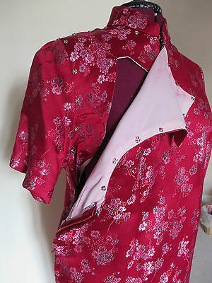 HALF PRICE!!  SILK BROCADE Traditional Oriental Chinese Cheong Sum Dress - L 5