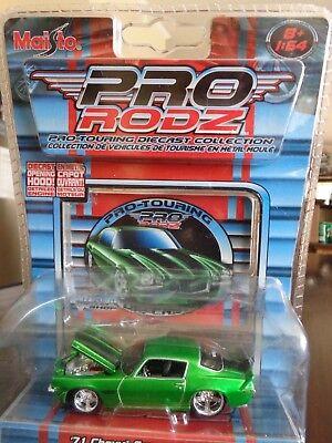 1971 Chevrolet Camaro Z/28 Pro Rodz Pro Touring Candy Green 1/64 Maisto Used 6