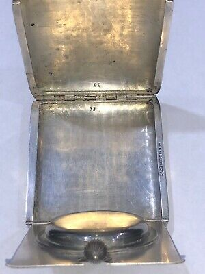Antique Sterling Silver 8 Day Travel Watch/Clock From 1913 5